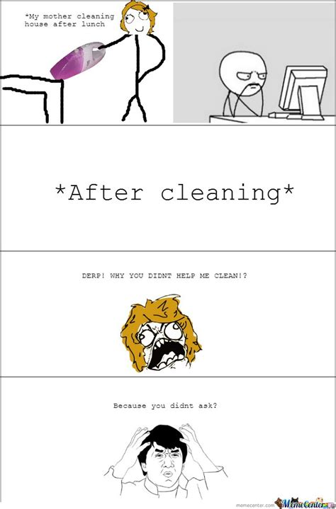 Cleaning Meme - my mother cleaning house after lunch by mustapan meme center