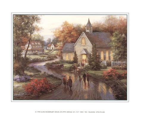 country church fine art print  tc chiu