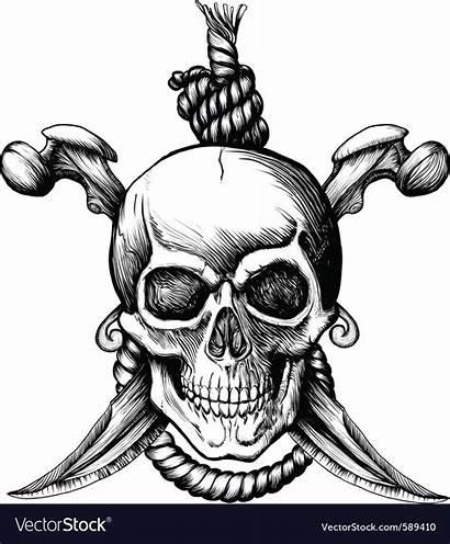 Jolly Roger Skull Vector Vectorstock Royalty