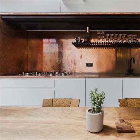 Kitchen Feature Wall Ideas - solutions copper kitchens elle decoration uk