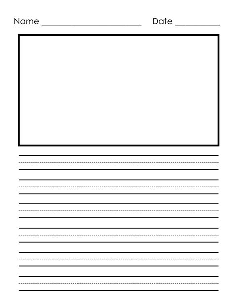 writing paper printable  children  images kindergarten writing paper