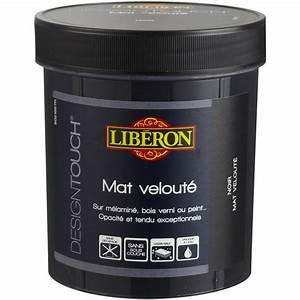 peinture a effet mat liberon design touch noir 05 l With peinture noir pour meuble