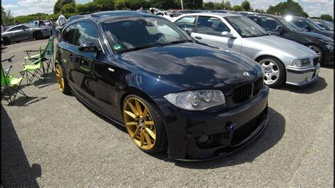 bmw 1 series e81 m front tuning yidi performace wheels blue colour walkaround