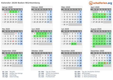 2021 sind sie zwei wochen lang. Kalender 2020/2021 Baden-Württemberg