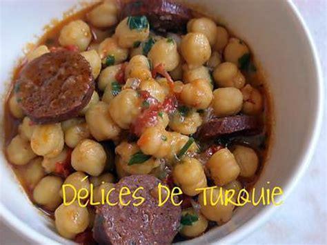 cuisine turc facile recette de pois chiches au sucuk turc ou chorizo