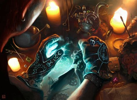 magic the gathering rogues gloves by cvdh by tegehel on deviantart