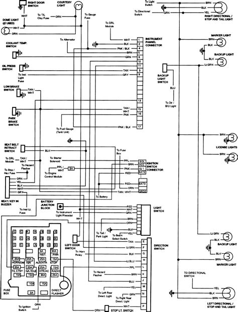 84 Chevy Steering Column Wiring Diagram by Steering Techteazer