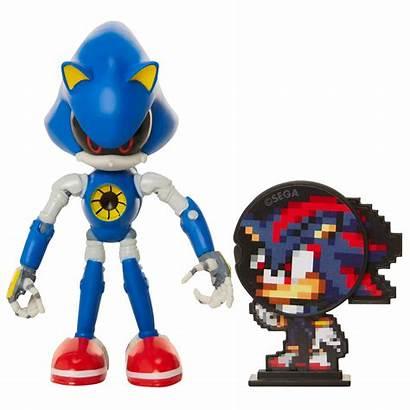 Sonic Action Metal Bendable Toys Flexible
