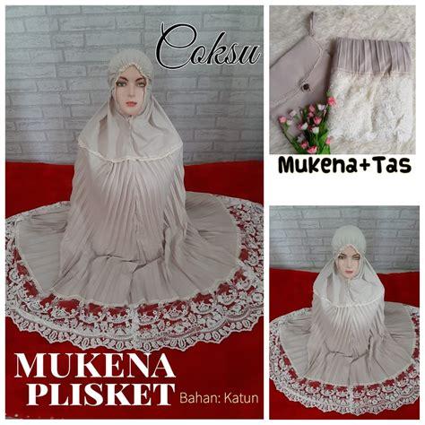 mukena plisket sentral grosir jilbab  produsen jilbab