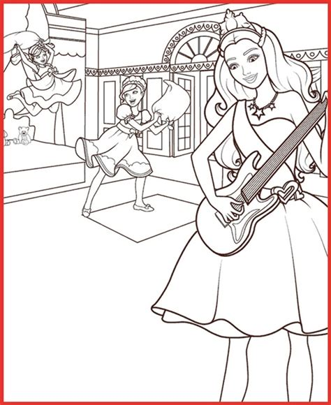 ausmalbilder barbie eine prinzessin im rockstar camp rooms project rooms project