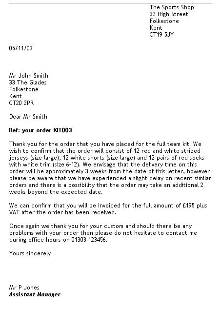 present  letter  english