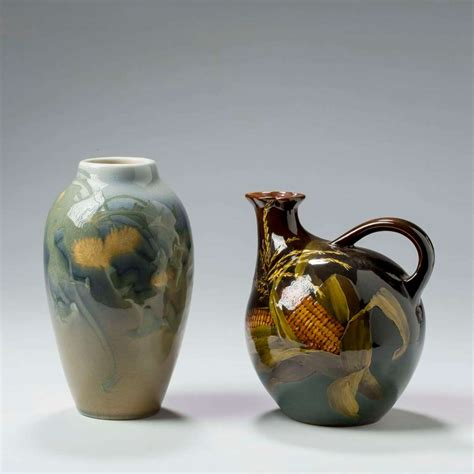 Rookwood Pottery Standard Glaze Ewer Decorated By Mary
