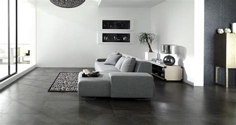 Grey Tiles Living Room by Porcelanosa Contemporary Home Products