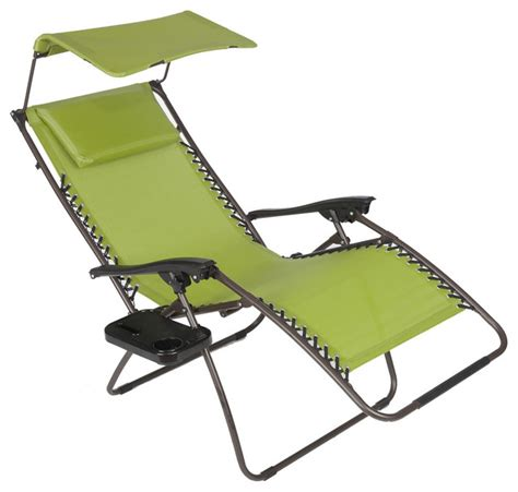 pacific zero gravity chair with canopy and tray green
