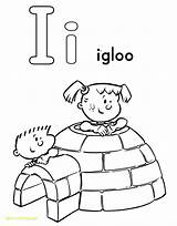 Igloo Coloring Pages Alphabet Drawing Getdrawings sketch template