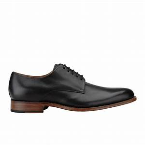 Grenson Men's Toby Derby Shoes - Black - Free UK Delivery ...