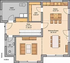 Haus Raumaufteilung Beispiele : kern haus familienhaus vero grundriss erdgeschoss haus ~ Lizthompson.info Haus und Dekorationen