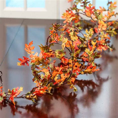 autumn artificial oak leaf garland garlands floral