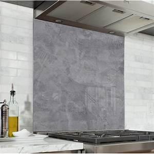 Beton Cire Deco : fond de hotte effet b ton cir verre et alu credence ~ Premium-room.com Idées de Décoration