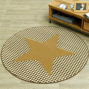 Teppich Stern Beige : design velours teppich stern karo rund choco beige 140 cm 102319 ebay ~ Whattoseeinmadrid.com Haus und Dekorationen