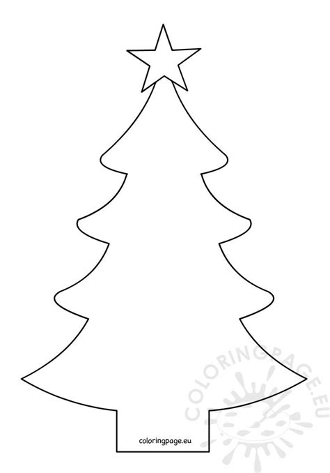 christmas tree shape  fivepointed star coloring page