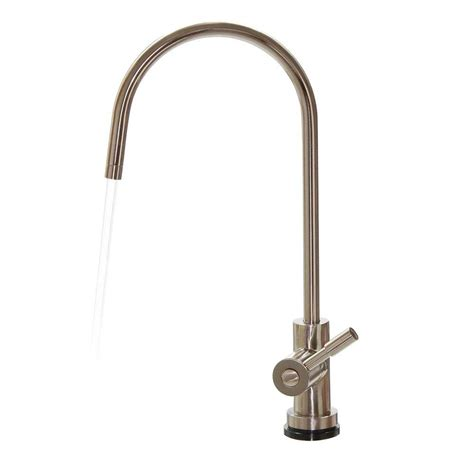watts single handle water dispenser faucet with air gap in brushed nickel for osmosis