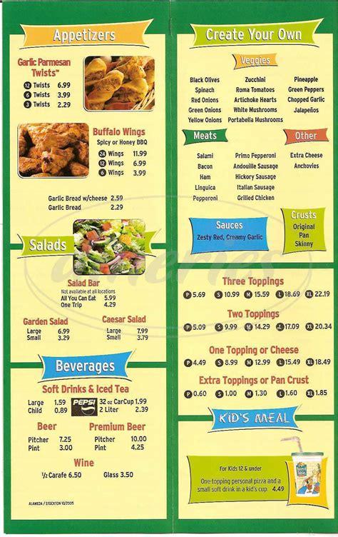 round table pizza menu prices round table pizza menu walnut creek dineries