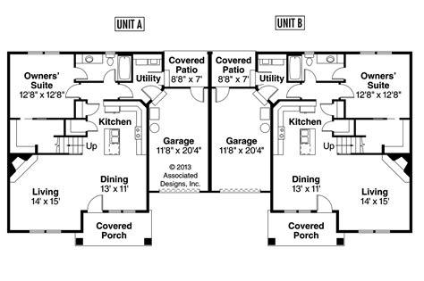 surprisingly duplex plans single story craftsman house plans donovan 60 007 associated designs