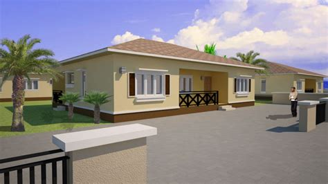 bedroom house plans  bedroom bungalow house plan  nigeria bungalo homes