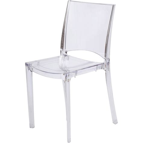 chaise de jardin en polycarbonate transparent