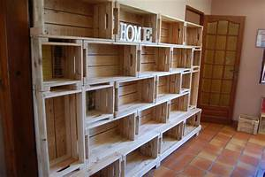 Plan Meuble Palette : l 39 espace des caisses en bois de palette meubles en bois ~ Dallasstarsshop.com Idées de Décoration