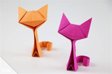 origami katze basteln anleitung zum falten aus papier