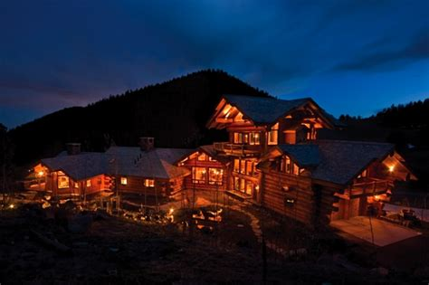 amazing log home brimming  sophisticated electronic