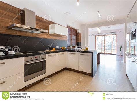 cuisine ouverte sur la salle 224 manger photo stock image 47397792