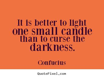 light  small candle   curse