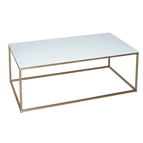 Armano White Square Gold Frame Coffee Table  Casa Uniqua
