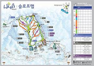 High1 Ski Resort Piste Map / Trail Map (high res.)