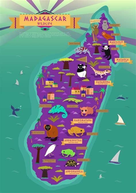 madagascar wildlife map french intro
