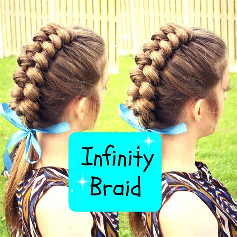 infinity braid hairstyle fade haircut