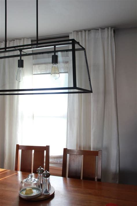 Window Fixtures by White Ikea Aina Curtains With A Ballard Light Fixture