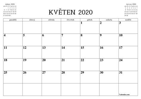 zdarma vytisteny prazdny mesicni kalendar  planovac na