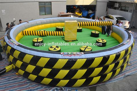 zone battle obstacle course inflatable meltdown field game wipeout rent
