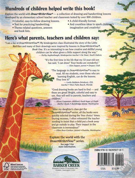 draw write  book  animals   world dry land