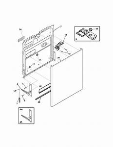 Door Diagram  U0026 Parts List For Model Fdb956rbb0 Frigidaire