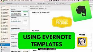Using evernote templates workshop from simply days youtube for How to create a template in evernote