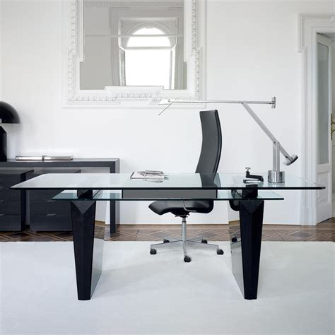 glass top office desk with awesome modern office desk idea with glass top black