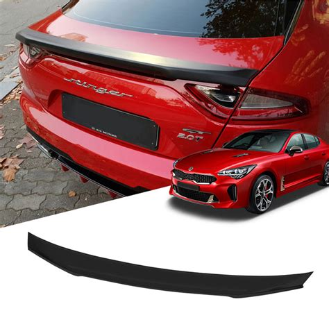 Rear Trunk Spoiler Molding Trim Garnish S Type 1pcs For
