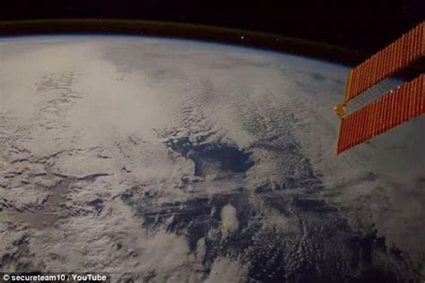 Another UFO spotted from the International Space Station ...