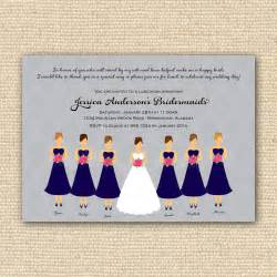 bridesmaids luncheon invitation bridal brunch diy - Bridesmaid Invitations