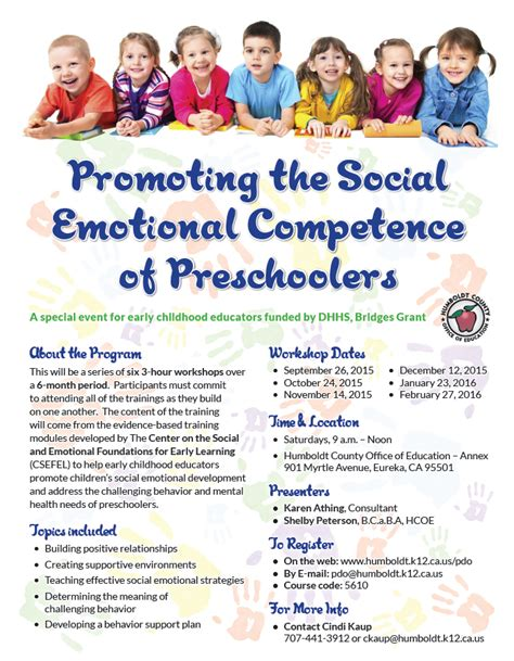 promoting the social emotional competence of preschoolers 575 | EmotionalPreschoolers